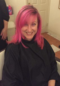 Bright Pink Hair!