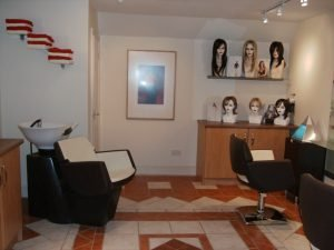 Scalp treatment and wig fitting room